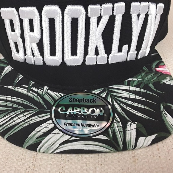 Carbon Elements Accessories - Brooklyn Hat Snapback Embroidered Hawaiian Carbon